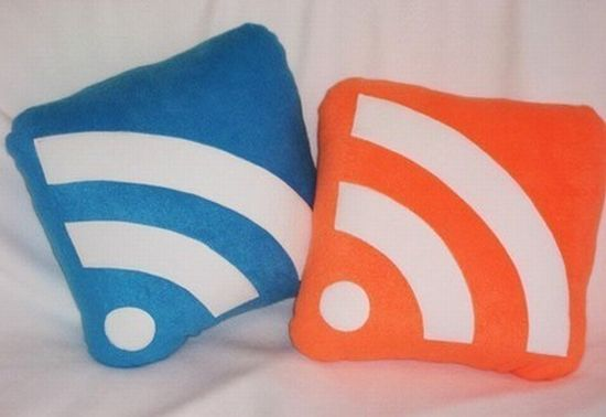 RSS Feed icon pillows